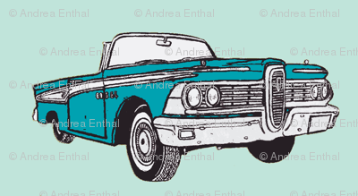 1959_Edsel Corsair convertible aqua on mint