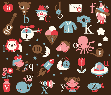 Dutch and English alphabet! fabric by bora on Spoonflower - custom fabric