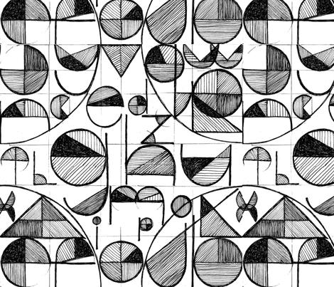 AlphabetPattern02-ed fabric by nicole_mueller on Spoonflower - custom fabric