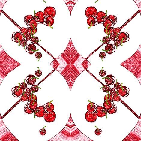 Cherries, Cherries, Cherries! fabric by robin_rice on Spoonflower - custom fabric