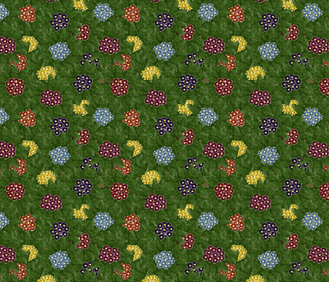 © 2011  Primroses for AJ fabric by glimmericks on Spoonflower - custom fabric