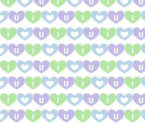 iheartu fabric by oranshpeel on Spoonflower - custom fabric