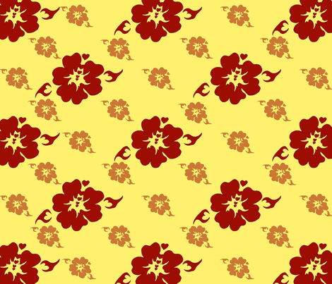 The Red Sun fabric by emidiaz on Spoonflower - custom fabric