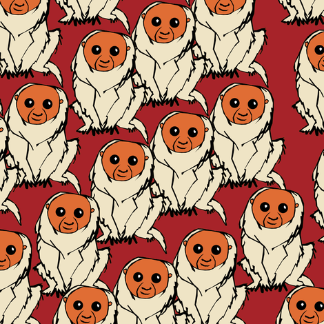 Bald Uakari fabric by pond_ripple on Spoonflower - custom fabric