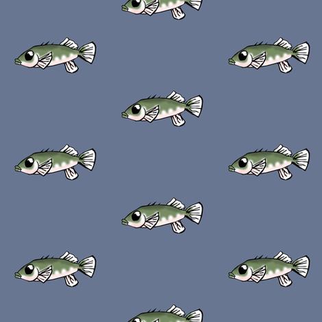 Unarmored Threespine Stickleback fabric by pond_ripple on Spoonflower - custom fabric