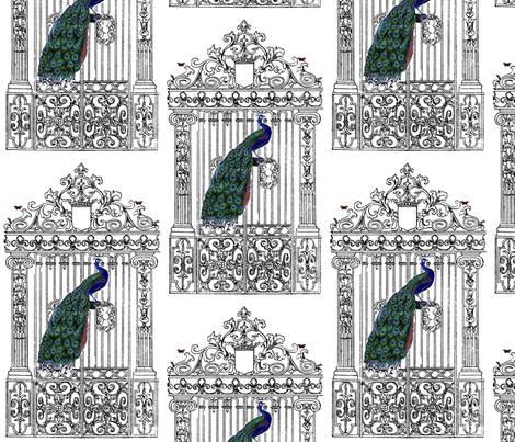 peacockgate fabric by rachel1 on Spoonflower - custom fabric