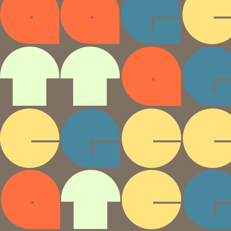 biological alphabet fabric by aperiodic on Spoonflower - custom fabric