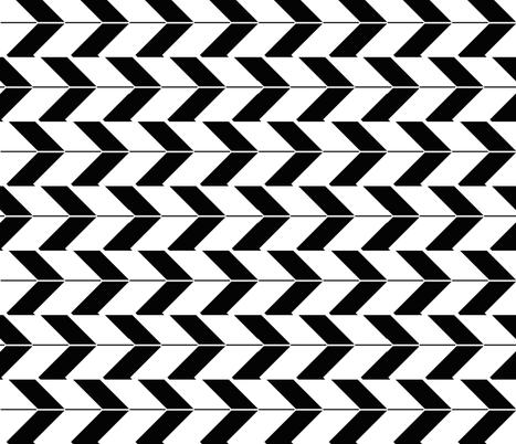Black Arrows fabric by fleamarkettrixie on Spoonflower - custom fabric