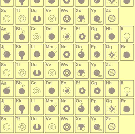 Icon alphabet  fabric by theboerwar on Spoonflower - custom fabric