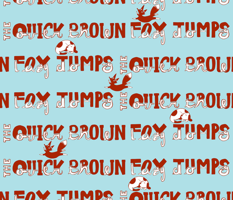 The Quick Brown Fox Jumps Over the Lazy Dog fabric by artfix on Spoonflower - custom fabric