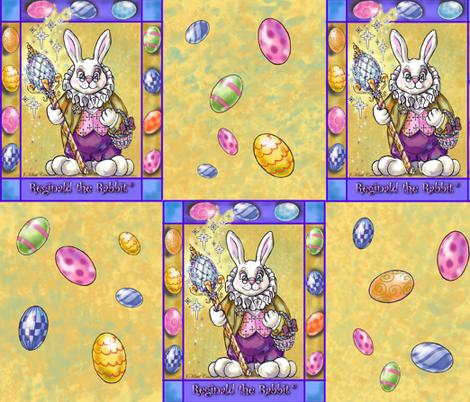 Reginald the Rabbit fabric by jkc on Spoonflower - custom fabric