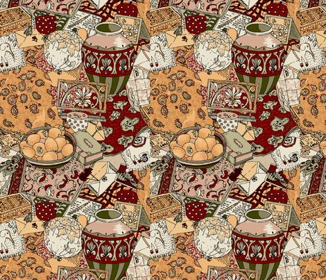 Letters from India fabric by jane_kriss on Spoonflower - custom fabric
