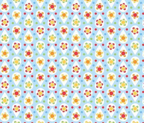 rain_daisy fabric by cjldesigns on Spoonflower - custom fabric