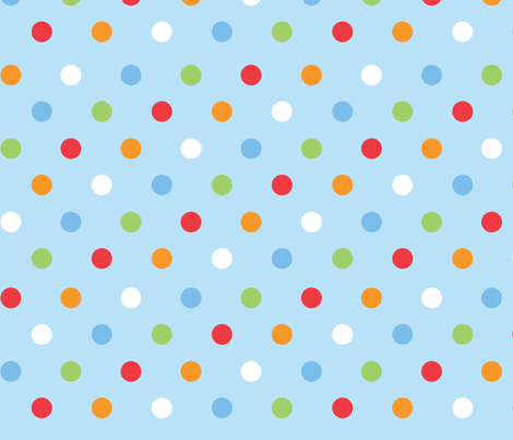 Rain_dot_blue fabric by cjldesigns on Spoonflower - custom fabric
