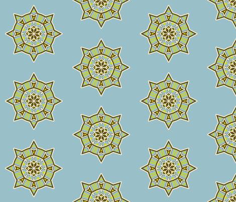 Star Kaleidoscope fabric by dreamwhisper on Spoonflower - custom fabric