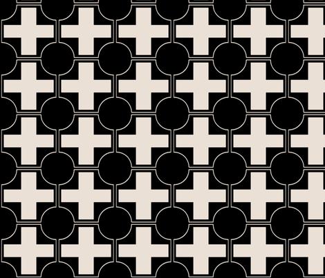 hollywood crossing black and champagne fabric by ninaribena on Spoonflower - custom fabric