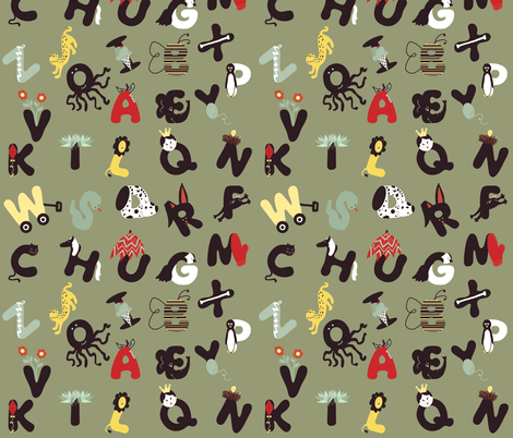 alpha buddies fabric by cilla on Spoonflower - custom fabric