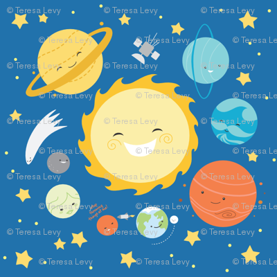 Solar System fabric - sewingstars - Spoonflower