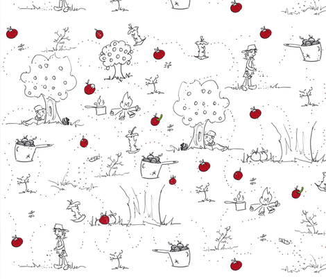That Johnny Appleseed wasn't a sketchy character fabric by tracydb70 on Spoonflower - custom fabric