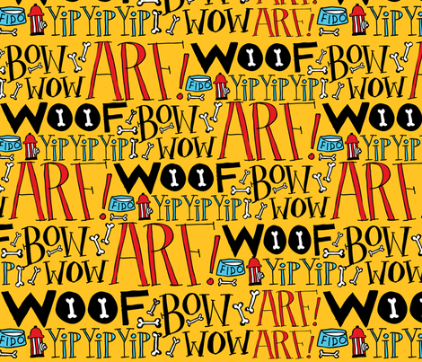 Doggie Language fabric by ecdesign on Spoonflower - custom fabric