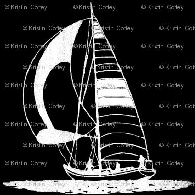 whiteblackboat