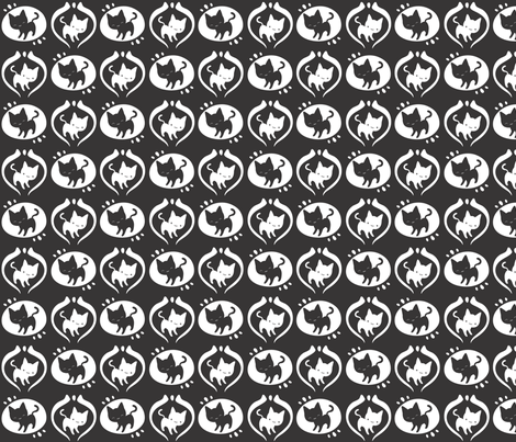 Black & White Kitties fabric by sewingstars on Spoonflower - custom fabric