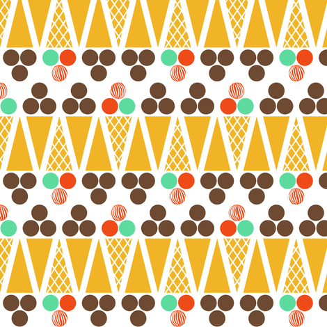 Ice Cream Retro fabric by newmomdesigns on Spoonflower - custom fabric