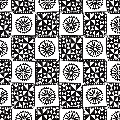 Pin Wheel Tapa fabric by spellstone on Spoonflower - custom fabric