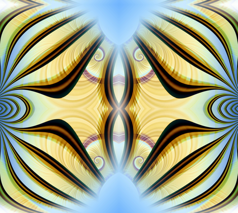 Scarf Fractal fabric by joanmclemore on Spoonflower - custom fabric