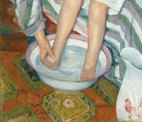 The Child's Bath (Mary Cassat - 1893) fabric by studiofibonacci on Spoonflower - custom fabric