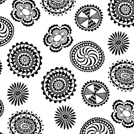 Floral Tapa fabric by spellstone on Spoonflower - custom fabric