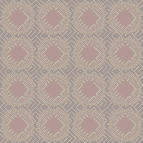 Edgy Circles in beige with pink squares © 2009 Gingezel Inc. fabric by gingezel on Spoonflower - custom fabric