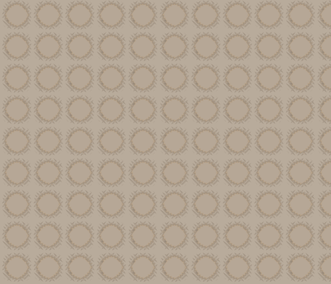 Edgy Circles in beige © 2009 Gingezel Inc. fabric by gingezel on Spoonflower - custom fabric