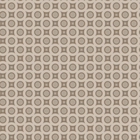 Beige Standard Circles © 2011 Gingezel Inc.™ fabric by gingezel on Spoonflower - custom fabric