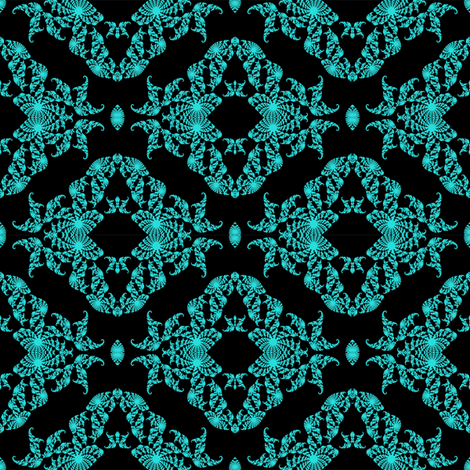 Fractal Fantasy in blue fabric by grannynan on Spoonflower - custom fabric