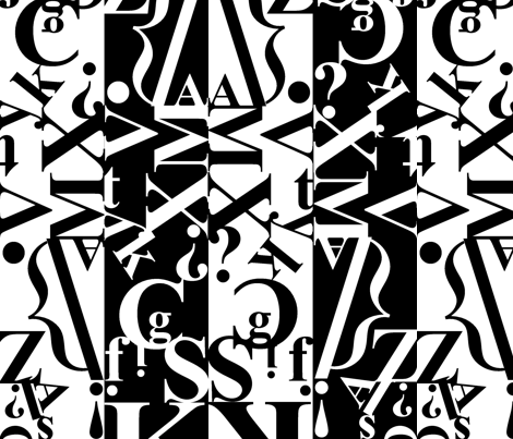 black_on_white_on_black_1 fabric by andrewtopel on Spoonflower - custom fabric