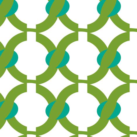 green chain fabric by fleamarkettrixie on Spoonflower - custom fabric