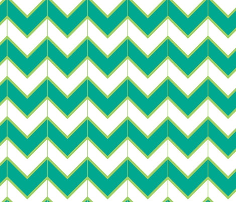 turquoise mountains  fabric by fleamarkettrixie on Spoonflower - custom fabric