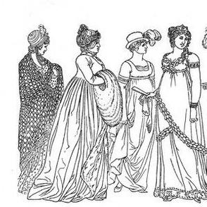 Vintage Ladies Fabric