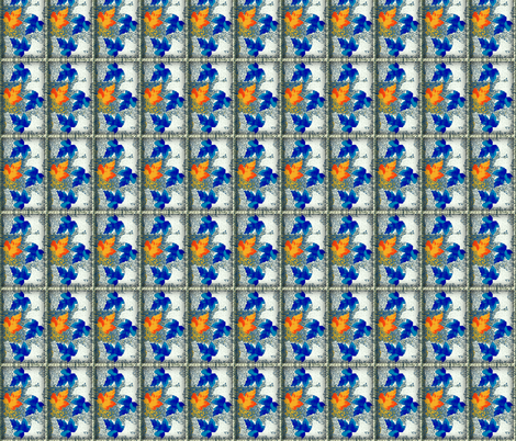 Falling Leaves Outside My Window fabric by robin_rice on Spoonflower - custom fabric