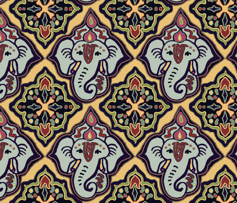 EleBoo faded fabric by elephant_booty_studio on Spoonflower - custom fabric