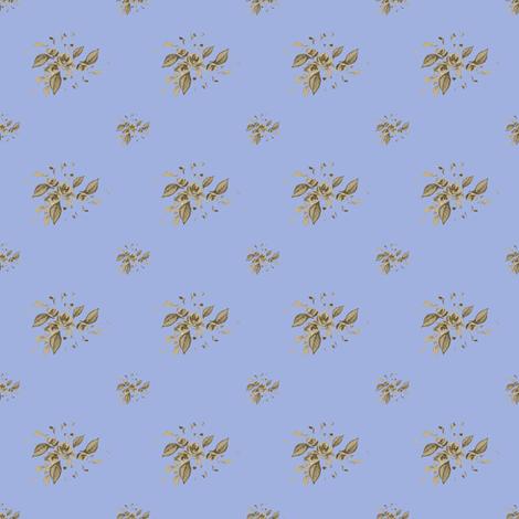 Farmhouse Blue Roses Sarah  fabric by joanmclemore on Spoonflower - custom fabric