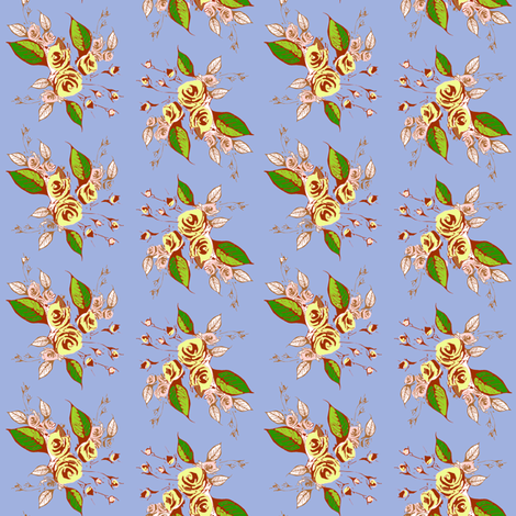 Roses Antiqued fabric by joanmclemore on Spoonflower - custom fabric