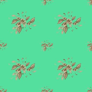 Roses Antique Green