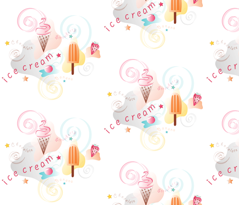 ice_cream fabric by rward on Spoonflower - custom fabric