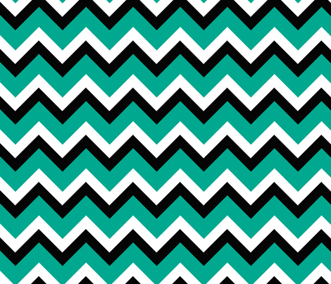 turquoise mountain fabric by fleamarkettrixie on Spoonflower - custom fabric