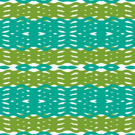 striped blanket fabric by fleamarkettrixie on Spoonflower - custom fabric