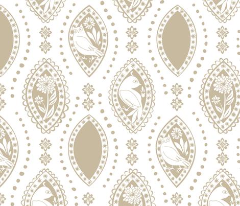 Spanish_Eyes_WHITEKHAKI fabric by fuzzyskyfabric on Spoonflower - custom fabric
