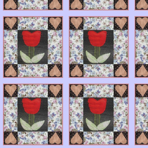 The tulip and the 4 hearts