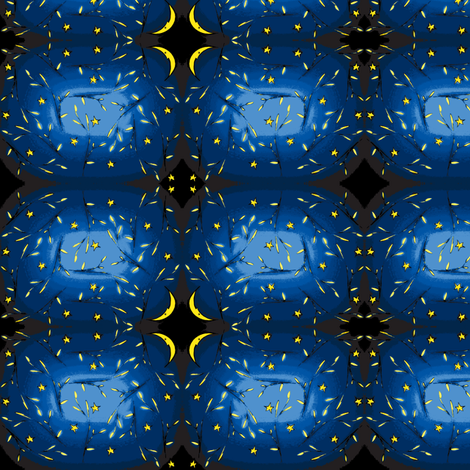 Night night sky after dark fabric christine wichert for Night sky print fabric